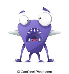 Terrible, cute monster - cartoon characters.