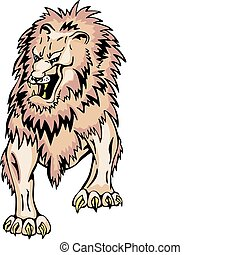 Terrible gnarling lion - Terrible gnarling adult lion...