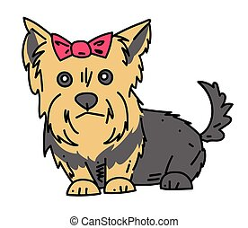 Terrier cartoon hand drawn image