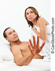 Terrified couple caught during sex - Terrified adult couple...