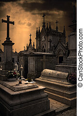 Terrifying cemetery