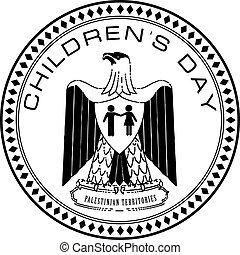territórios, childrens, dia, palestino