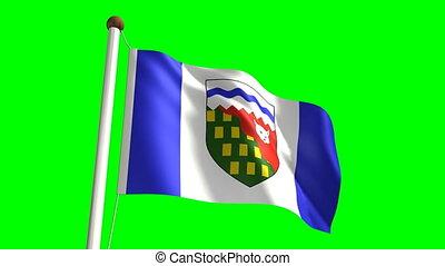 territoires, drapeau, nord-ouest
