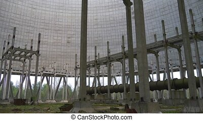 Cooling tower of Chernobyl Nuclear Power Station - Territory...