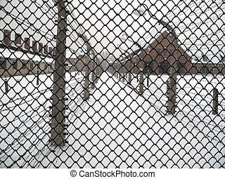 Auschwitz - Territory of Auschwitz concentration camp in...