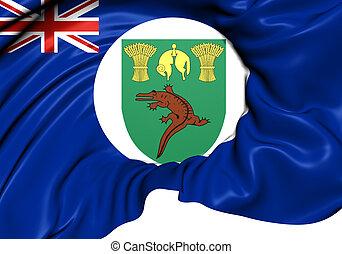 Territory of Basutoland Flag (1884-1966). Close Up.