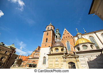 Territory of Royal palace in Wawel in Krakow, Poland.