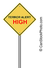 Terror Alert High Warning Sign