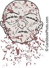 Creative design of terror blood