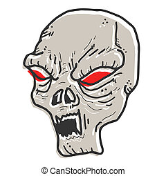 Creative design of terror face