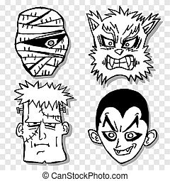 Terror mask - Design of four terror mask