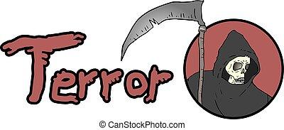terror message - Creative design of terror message