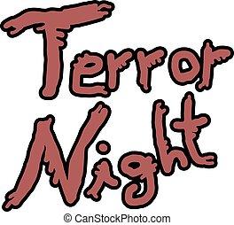 terror night message