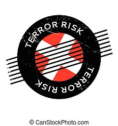 Terror Risk rubber stamp. Grunge design with dust scratches....
