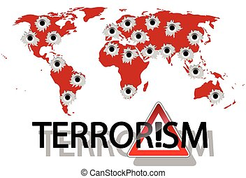 Terrorism - Illustration of terrorism in the world as a big ...