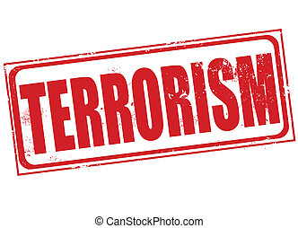 terrorism grunge stamp with on vector illustration