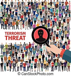 terrorism threat illustration - conceptual vector...