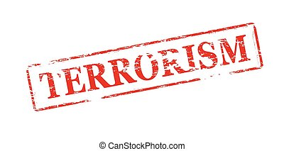 Terrorism - Rubber stamp with word terrorism inside, vector...