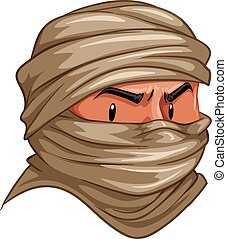 Terrorist covered his face with cloth