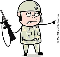 Terrorist - Cute Army Man Cartoon Soldier Vector Illustration
