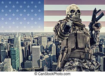 Terrorist in New York city.