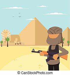 terrorist on egypt
