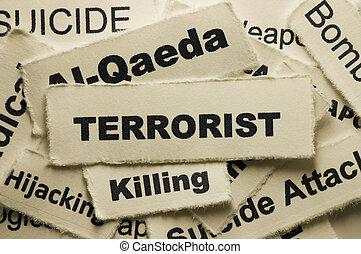 Terrorist - Picture of a word terrorist.