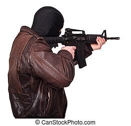 terrorist, stående