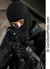 Terrorist targeting with a gun
