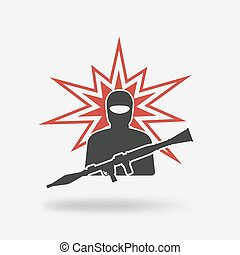 terrorist with grenade launcher.