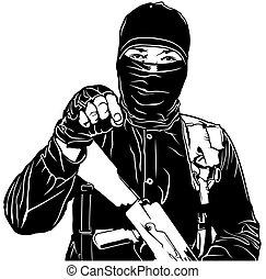 terrorista, negro