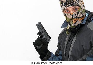 terrorista, pistola