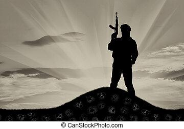 terrorista, silueta