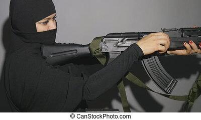 terroriste, pays, bande, occidental, menaçant