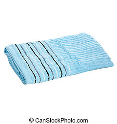 terry towel on a white background