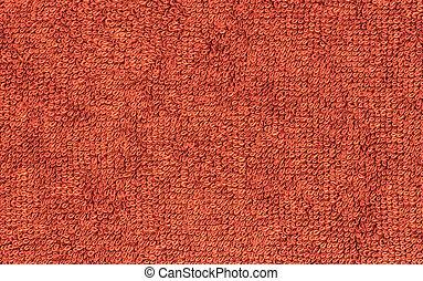 terrycloth red, closeup fabric texture background