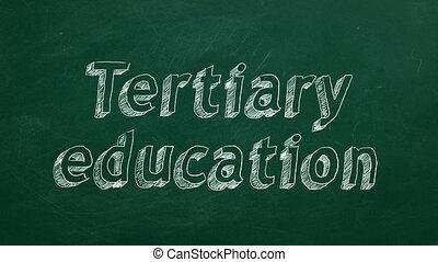 tertiary, 교육