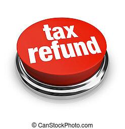 terugbetaling, belasting, knoop, -, rood