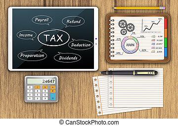 terugbetaling, geld, belasting, economie