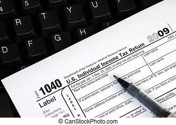 terugkeren, inkomstenbelasting, gemakkelijk, online, indiening