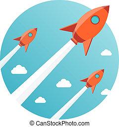 terv, új, startup, ügy