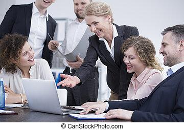 terv, együtt, co-workers, dolgozó