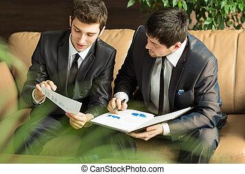 terv, fejteget, businessmen