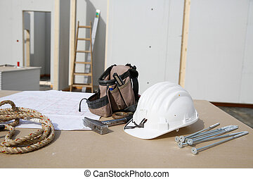 terv, hardver, felszerelés, épület