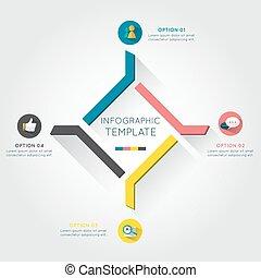terv, infographic, modern ügy