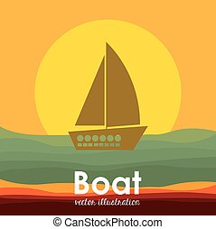 tervezés, csónakázik