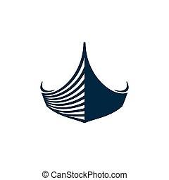 tervezés, csónakázik, ikon