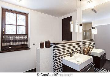 tervezés, fürdőszoba, -, eredeti, nagy