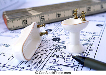 tervezés, fürdőszoba