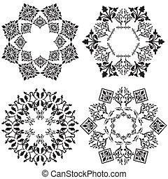 tervezés, fehér, elem, ver, (black